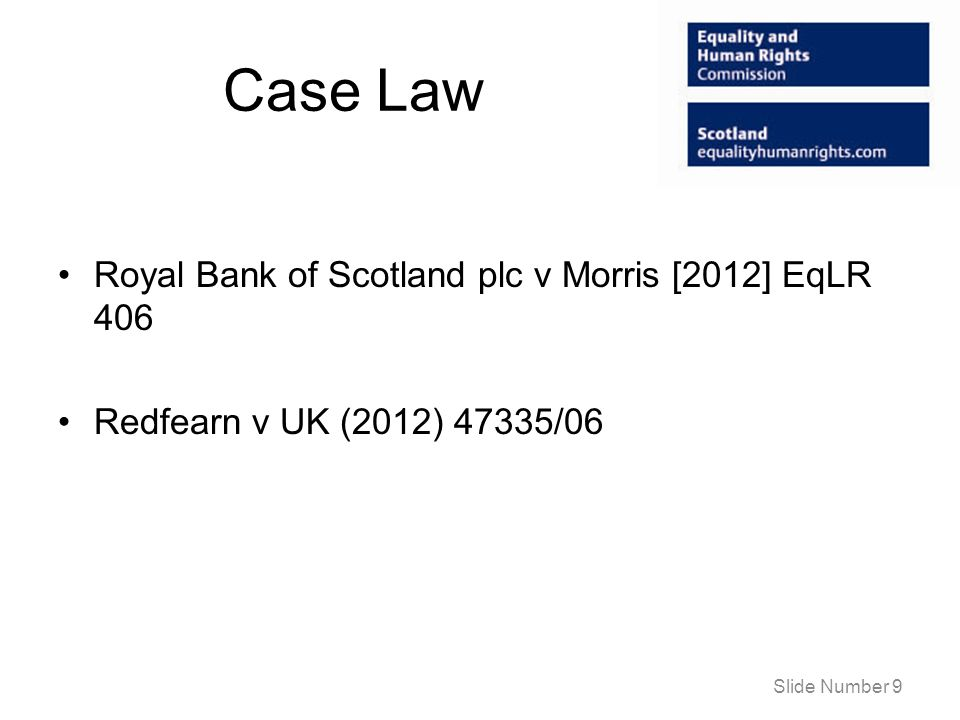 Case Law Royal Bank of Scotland plc v Morris [2012] EqLR 406